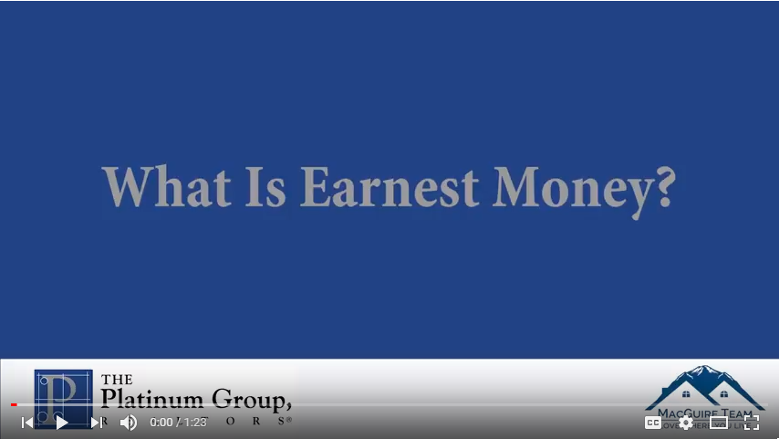 what is earnest money